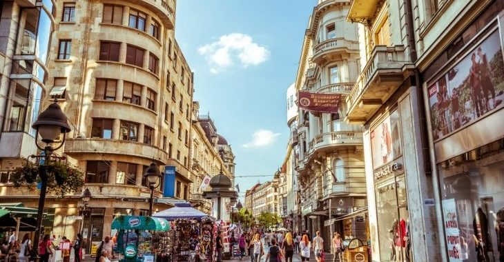 trajet aéroport Belgrade au centre